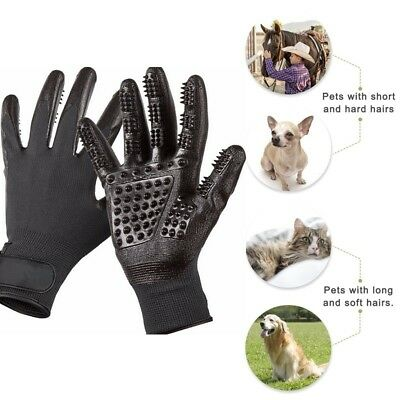 Pet Dog Horse Grooming Gloves Brush Hair Remover DeShedding Tool Clean Mitten