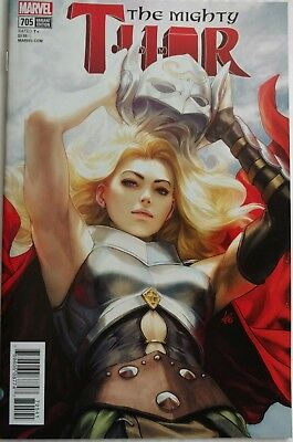 "THE MIGHTY THOR 705 May 2018 9.4-9.6 NM/NM+ STANLEY ""ARTGERM"" LAU VARIANT COVER!"