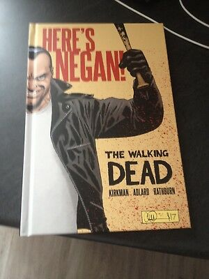 the walking dead heres negan hardback book