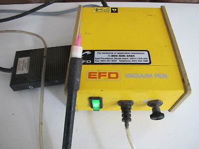 EFD Vacuum Pen Model 10VAC Power Cord, Foot Pedal, pen.
