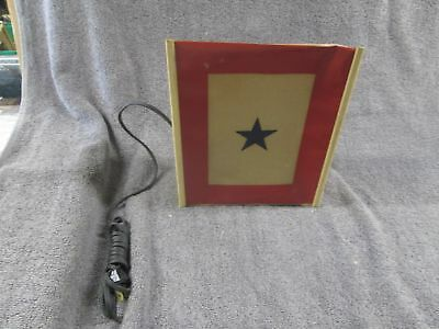Wwii Homefront Army Son In Service Window Light Military Victory Flag Light Nos