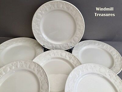 SET OF 6 BHS 'LINCOLN' DINNER PLATES 25cm - GREAT CONDITION