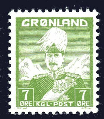 Greenland 1938 7 Ore King Christian X Mint Unhinged