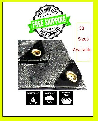 Extra Heavy Duty Tarp. Water Proof. UV Blocking. 12Mil Thick  Free Shipping