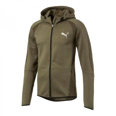 PUMA ULTIMATE FULL Zip Hoodie Evostripe Green Hoody Long Sleeves ... 8603615a94c