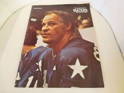 Vancouver Blazers vs. Houston Aeros Program 1974 Vol 1 No 26 Gordie Howe Cover