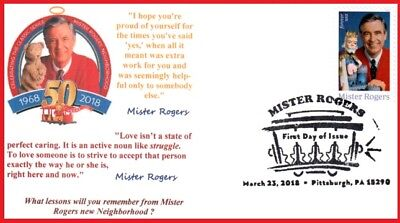 Mr.Rogers FDC Thank you Fred McFeely Rogers,lessons remember Mr.Rogers