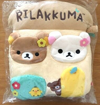 Rilakkuma Stuffed Wall Mounted Pockets Wardrobe Hang Bag KAWAII Japan NEW SAN-X