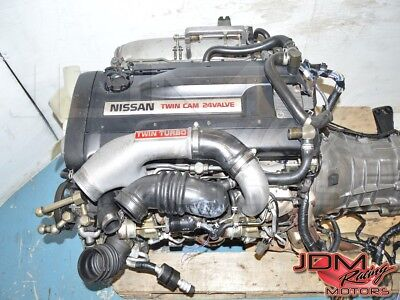 JDM Nissan Skyline R32 RB26DETT Twin Turbo BNR32 GTR Engine 5 Speed AWD