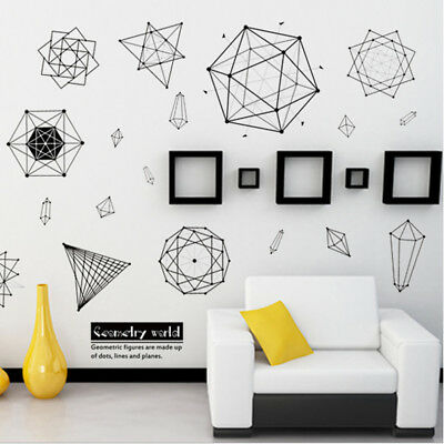 Nordic Abstract Geometry Pattern Math Wall Art Sticker Decal Mural Decor DIY New