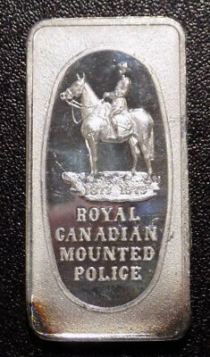 RCMP Royal Canadian Mounted Police Mounties Great Lakes Mint 1 oz silver bar