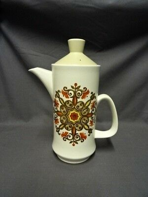 """Attractive Retro 1970's Royal Worcester Palissy 10.25"""" Coffee Pot"""