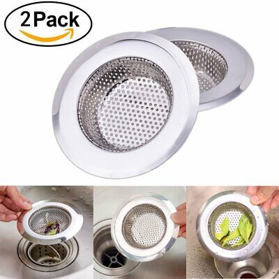 2 Pcs Kitchen Bathroom Sink Strainer Stainless Mesh Steel Drain Strainer 4.5""