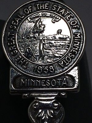 The Great Seal Of The State Of Minnesota 1858 Collector Spoon