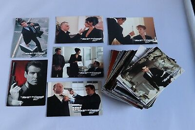 James Bond THE WORLD IS NOT ENOUGH FULL BASE SET OF TRADING CARDS 1999