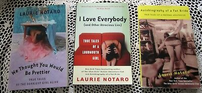 THREE (3) LAURIE NOTARO Paperback Books Fat Bride, Prettier, I Love Everybody