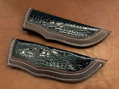 Lot of 2 Handmade Fixed Blade-Hunting Knife- Blade Quality Leather Sheath-LS2