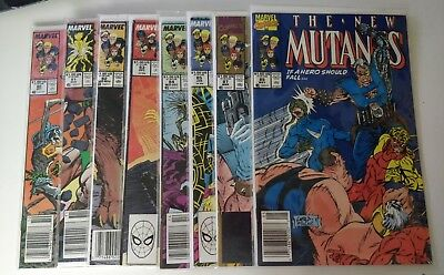 New Mutants Issues 80 81 82 83 84 85 87 89 Marvel  8 in lot Key Issues 1st Cable