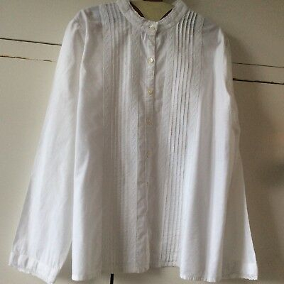 Chemise Broderies Blanche 10 Ans Bonpoint