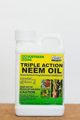 Southern Ag Triple Action Neem Oil Broad Spectrum Organic Fungicide , 16 OZ