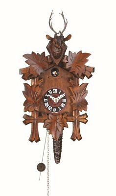 Trenkle Uhren Quarter call cuckoo clock with 1-day movement Five leaves, head of
