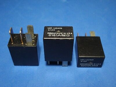 (Lot of 3) Omron Relay MR122409