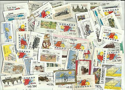 Spain ATM - Automatic machine labels postage stamps x 50 (Batch 5)