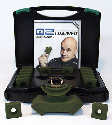 Bas Rutten 02 O2 Trainer Green Elevation Mask Altitude Training Fitness asthma
