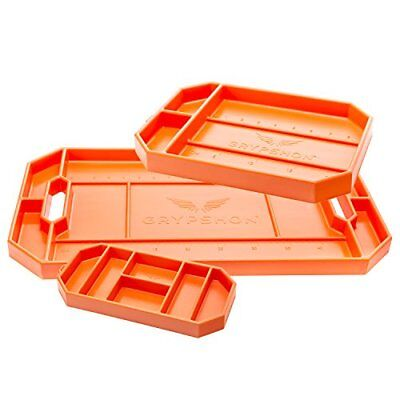 Grypmat Non-Slipportable Flexible Tool Tray & Surface Protector Trio Pack