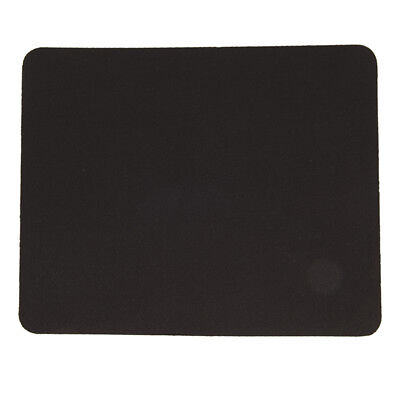 Black Fabric Mouse Mat Pad High Quality 3mm Thick Non Slip Foam 26cm x 21cm LY