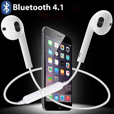 Wireless Bluetooth Earphone Headset Sport Stereo Headphones For iPhone Samsung