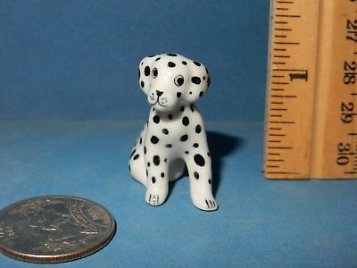 LITTLE CRITTERZ  MINI  DALMATION  DOG  CERAMIC  FIGURINE   doll house size