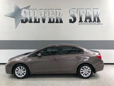 2012 Honda Civic  2012 Civic Sedan 4DR EX-L Leather SunRoof Loaded GasSver Texas