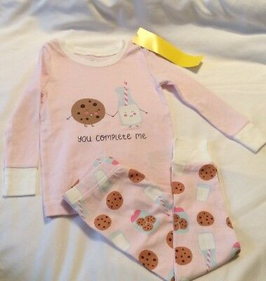 """Nwt 2T 2Yrs """"Old Navy"""" You Complete Me  Pjs 2Pc Set Girls Pajamas"""