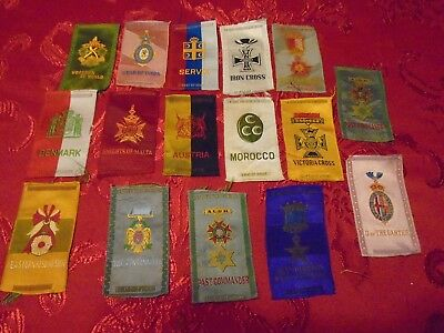 Lot of 16- Vintage Cigarettes Tobacco Silks,Good Condition for Age 100yrs Old