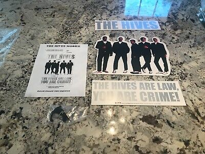 THE HIVES The Hives Are Law, You Are Crime! VINTAGE PROMO HANGING DISPLAY MOBILE