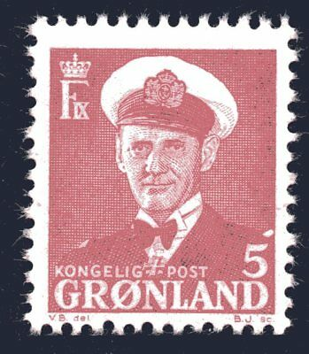 Greenland 1950 5 Ore King Frederik IX Mint Unhinged