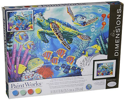Dimensions 91454 Sea Turtles Paint by Number