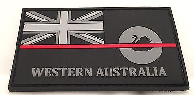 Thin Red Line, WA Fire Patch, State Flag, Hook Rear