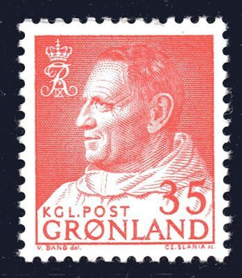 Greenland 1964 35 Ore King Frederik IX Mint Unhinged