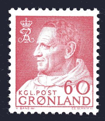 Greenland 1968 60 Ore Carmine-Red King Frederik IX Mint Unhinged
