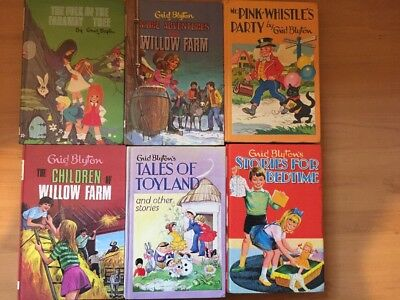 Bulk Lot Of 6 Vintage Enid Blyton Books