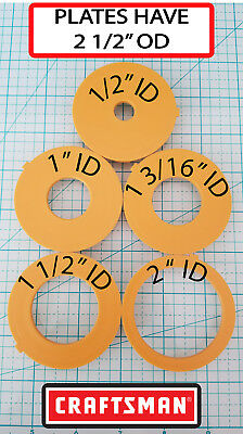 Router table insert ring set 3 od fits sears craftsman others craftsman router table inserts set of 5 greentooth Gallery