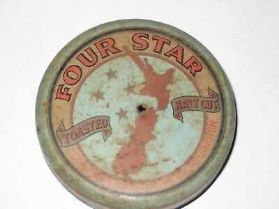 empty collectable cigarette tin   FOUR STAR