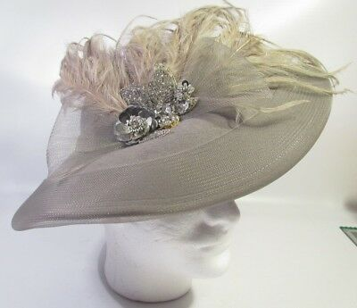 Vintage Womans Hat With Feathers Made By Deborah  Of New York With Tags