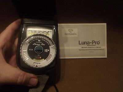 Gossen Luna-Pro Electronic Exposure Meter with Case & Booklet