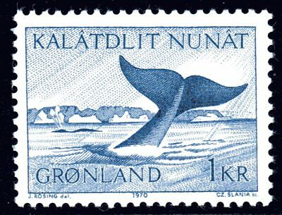 Greenland 1970 1K Whale Mint Unhinged