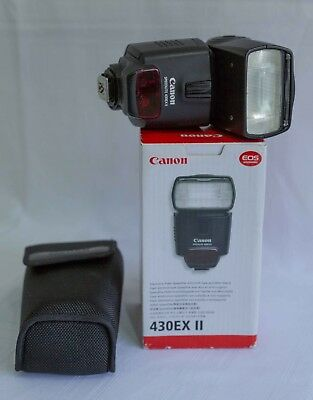 Canon Speedlite 430EX II Shoe Mount Flash for For Canon DSLR, very good cond.