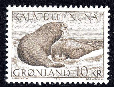 Greenland 1973 10 Krone Walruses Mint Unhinged