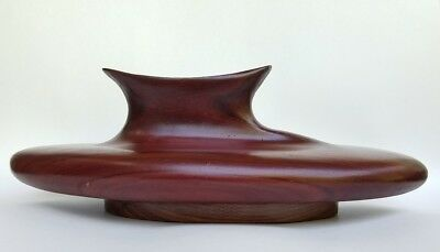 Vintage Mid Century Modern Danish Wooden Candle Holder Hand Turned Wood MCM